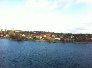 Пригороды Стокгольма с парома.